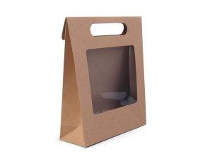 Papírová taška s průhledem 16 x 21 x 6,7 cm