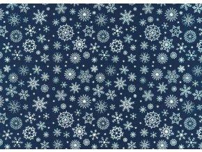 Dekorativní filc / plsť vločky 30x40 cm (1ks)
