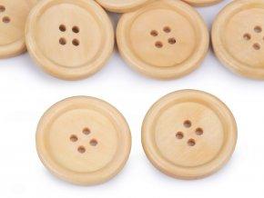 Dřevěný knoflík pr. 30,5mm (10ks)
