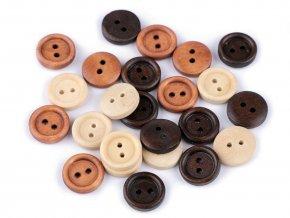 Dřevěný knoflík pr. 12,4mm (20ks)