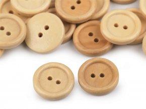 Dřevěný knoflík dvoudírkový pr. 18 a 20mm (50ks)