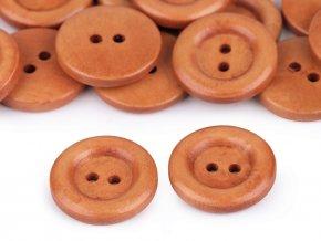 Dřevěný knoflík dvoudírkový pr. 22,9mm (10ks)