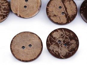 Knoflík kokos oboustranný (10ks)