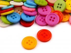 Knoflík barevný mix pr. 15mm (100ks)