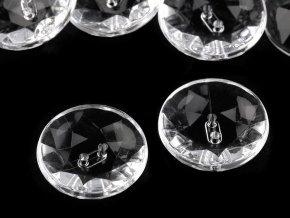 Knoflík Crystal průhledný pr. 24,9mm (10ks)