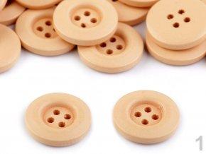 Dřevěný dekorační knoflík čtyřdírkový pr. 20mm (10ks)