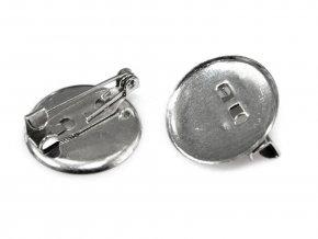 Brožový můstek s plíškem pr.19mm (10ks) - platina