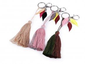 Přívěsek na kabelku / klíče střapec