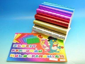 Blok barevných papírů HOLOGRAF A4 (8 listů)