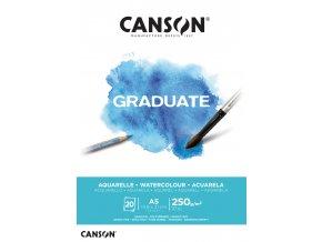 Graduate Watercolour skicák - lepený A5, A4, A3 (250 g/m2, 20 archů)