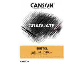 Graduate Bristol skicák - lepený A5, A4, A3 (180 g/m2, 20 archů)