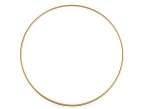 Kovový kruh (1ks) - zlatý, 4 velikosti
