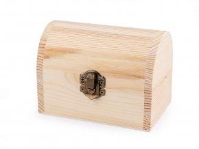 Dřevěná krabička/truhla - 7,8 x 11,8 cm