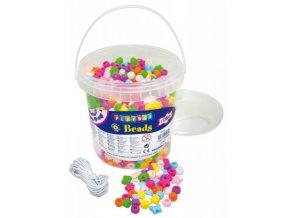 Korálky plastové - různé tvary (1200ks)