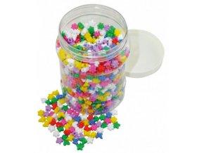 Plastové korálky v doze (1400ks)