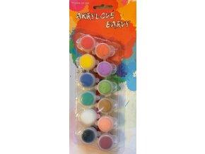 Akrylové barvy (12ks)