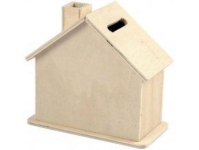 Domek pokladnička ze dřeva na dotvoření
