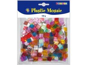 Mozaika plastová průhledná - 10 x 10 mm
