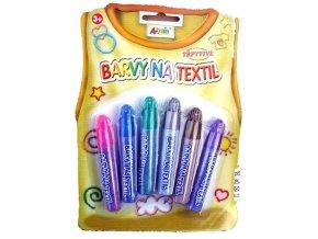 Třpytivé barvy na textil - na blistru