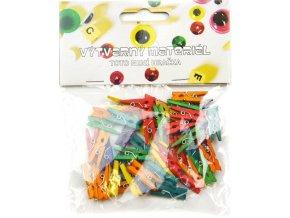 Kolíčky barevné - 25x3mm (45ks)