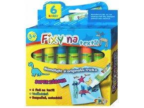 Fixy na textil (6ks)