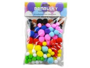 Bambulky - mix barev (100ks)