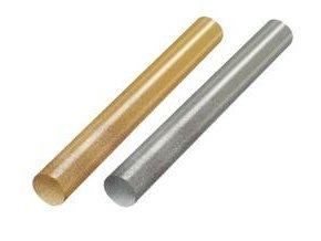 Tyčinky tavné glitrové 7mm, 5ks, 20ks - bílá, zlatá, stříbrná