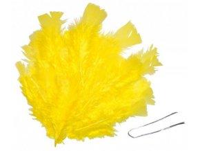 Peří žluté (48ks)