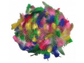 Peří měkké barevné (100ks)