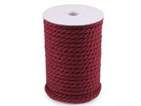 Bavlněná šňůra kroucená Ø8mm (5m) - červená