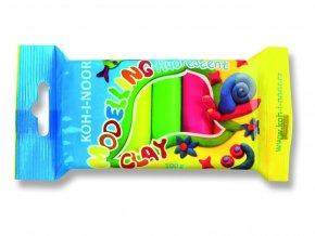 Plastelína - 5 fluorescenčních barev (100g)