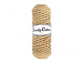 Lovely Cotton ŠŇŮRY - 3mm (100m) - BEIGE