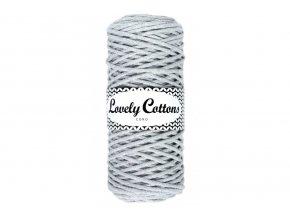 Lovely Cotton ŠŇŮRY - 3mm (100m) - LIGHT GREY