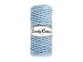 Lovely Cotton ŠŇŮRY - 3mm (100m) - BABY BLUE