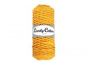 Lovely Cotton ŠŇŮRY - 3mm (100m) - YELLOW