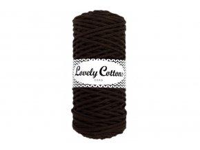 Lovely Cotton ŠŇŮRY - 3mm (100m) - CHOCOLATE