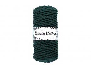 Lovely Cotton ŠŇŮRY - 3mm (100m) - BOTTLE GREEN