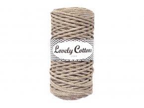 Lovely Cotton ŠŇŮRY - 3mm (100m) - LATTÉ MIX