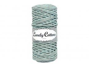 Lovely Cotton ŠŇŮRY - 3mm (100m) - GREY MINT