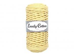 Lovely Cotton ŠŇŮRY - 3mm (100m) - PASTEL YELLOW