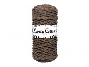 Lovely Cotton ŠŇŮRY - 3mm (100m) - MOCHA