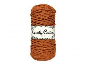 Lovely Cotton ŠŇŮRY - 3mm (100m) - PUMPKIN