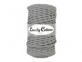 Lovely Cotton ŠŇŮRY - 5mm (100m) - DARK GREY