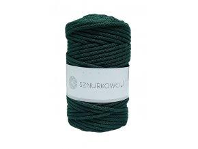 SZNURKOWO ŠŇŮRY 5mm - BOTTLE GREEN