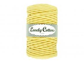 Lovely Cotton ŠŇŮRY - 5mm (100m) - LIGHT YELLOW