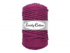 Lovely Cotton ŠŇŮRY - 5mm (100m) - DARK ROSE