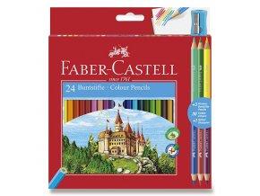 Pastelky Faber-Castell 24ks + 6 barev a ořezávátko