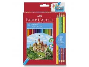 Pastelky Faber-Castell 36ks + 6 barev a ořezávátko
