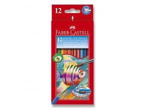 Akvarelové pastelky FABER-CASTELL 12ks + štětec