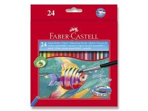 Akvarelové pastelky FABER-CASTELL 24ks + štětec